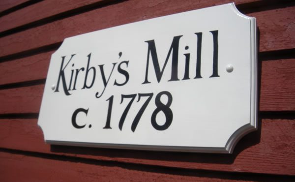 Historic Plaque for Kirbys Mill Medford NJ