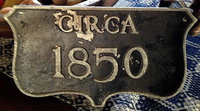 cast aluminum historic house plaque finish deteriorated