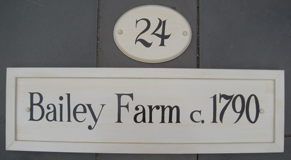 farmhouse address sign hand painted