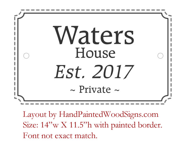 historic house sign layout