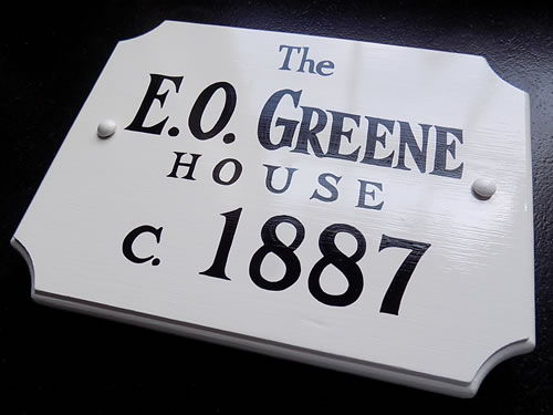Historic House Wooden Plaques Hand Painted