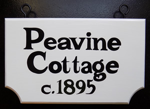 "16"" bottom french wood hanging sign"